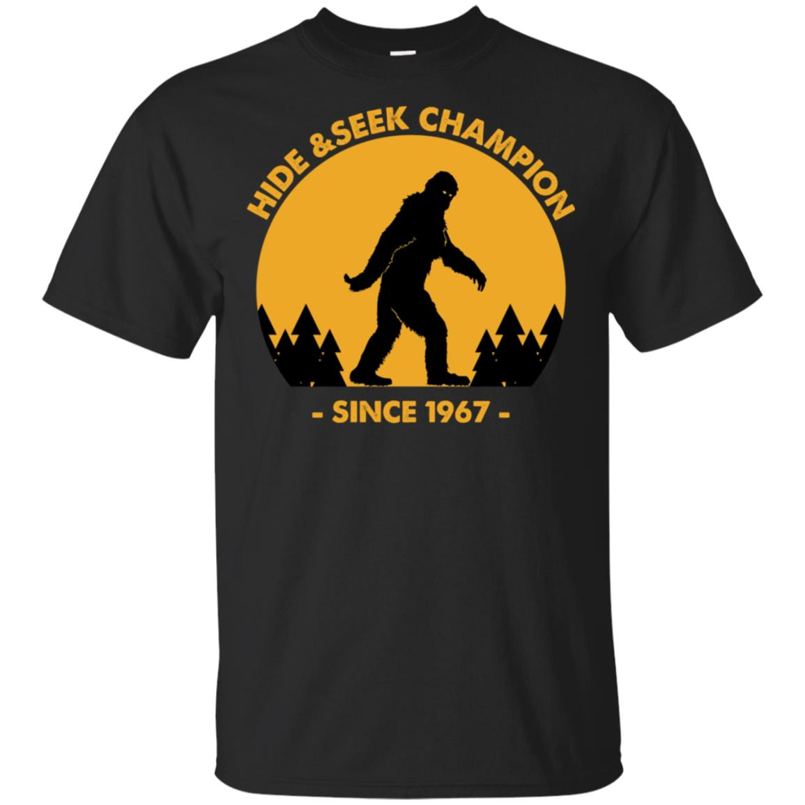 Bigfoot Hide And Seek Champion Since 1967 Sweater Unisex Short Sleeve