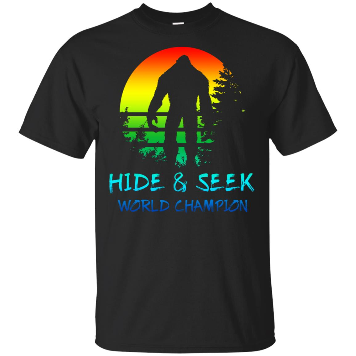 Bigfoot Hide & Seek Champion Sasquatch Yeti Unisex Short Sleeve
