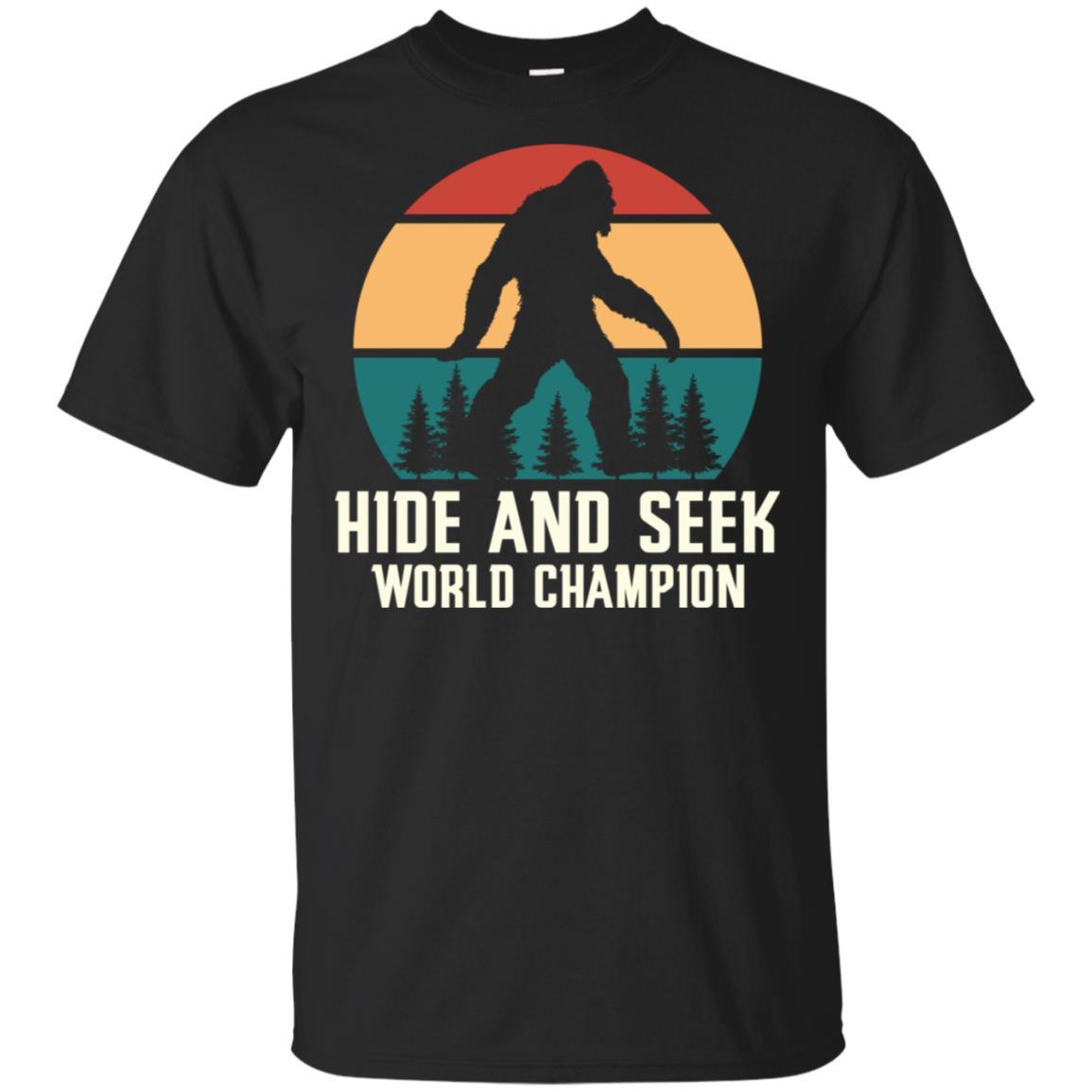 Hide and Seek Champion Bigfoot tee shirt Unisex Short Sleeve