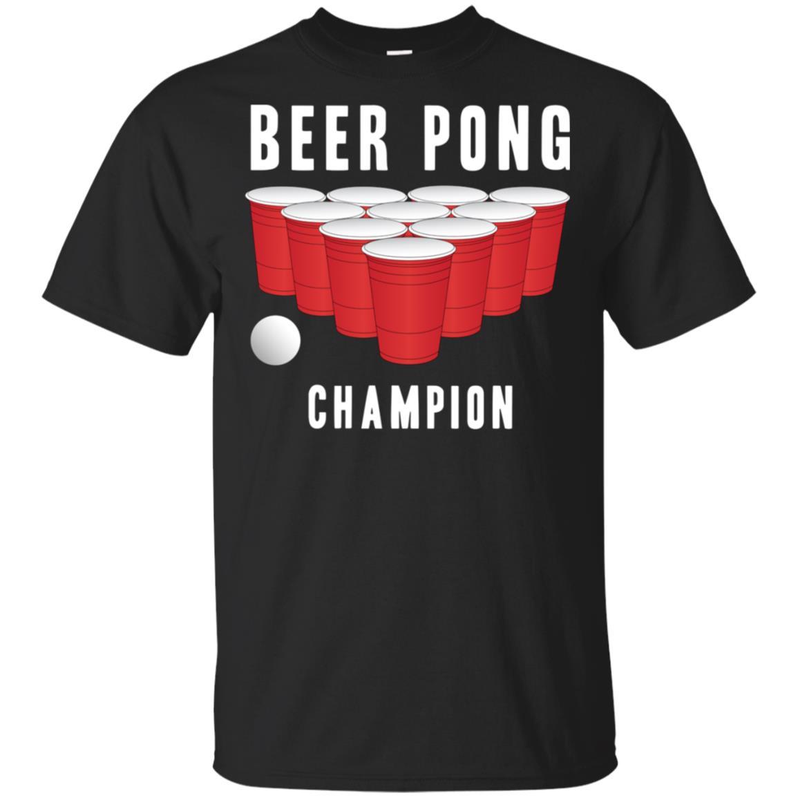 Beer Pong Champion Party Tee Alcohol Men Women Unisex Short Sleeve