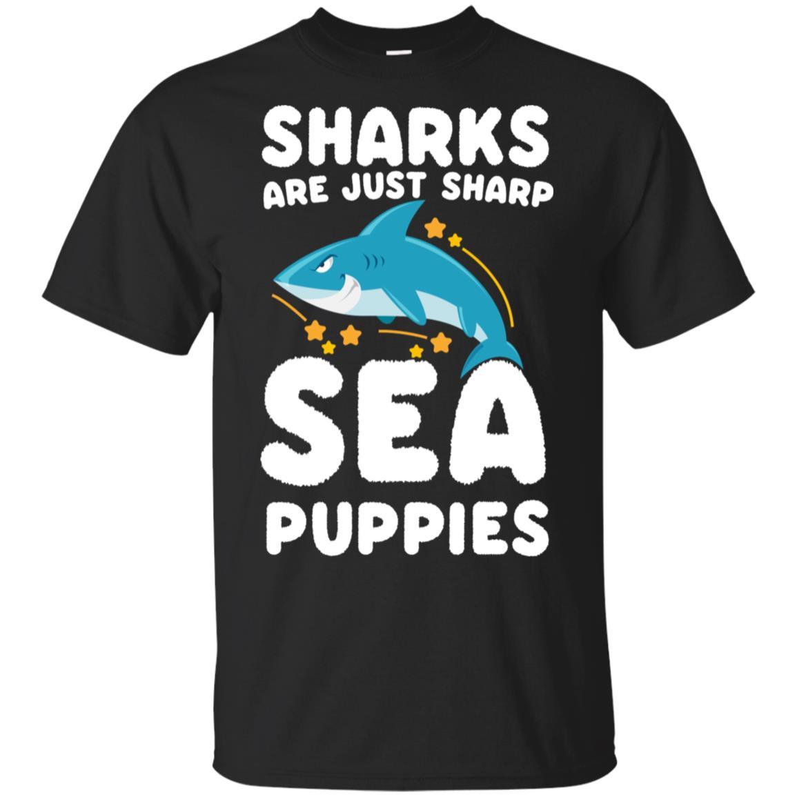Sharks Are Just Sea Puppies Funny Marine Unisex Short Sleeve