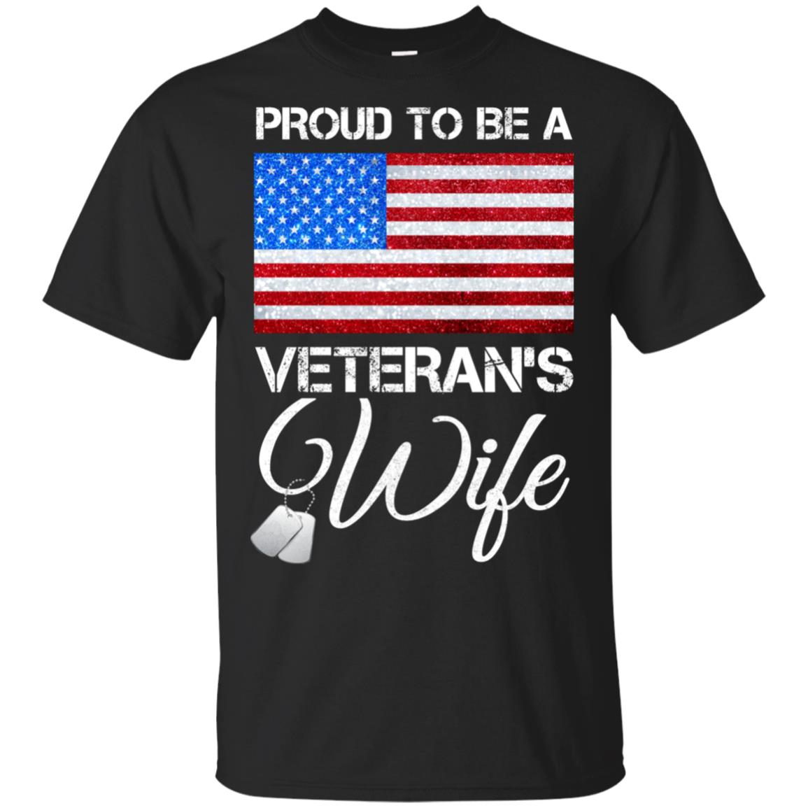 Proud To Be A Veteran's Wife Gift Veterans Day Unisex Short Sleeve