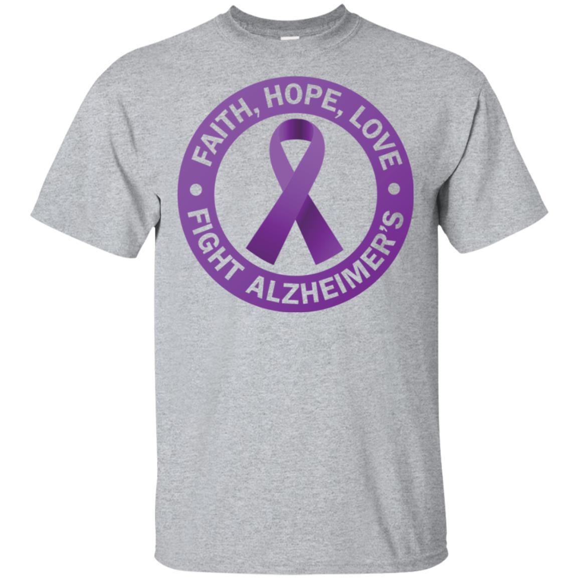 Alzheimer's Awareness. Fight Alzheimer's Ribbon Unisex Short Sleeve