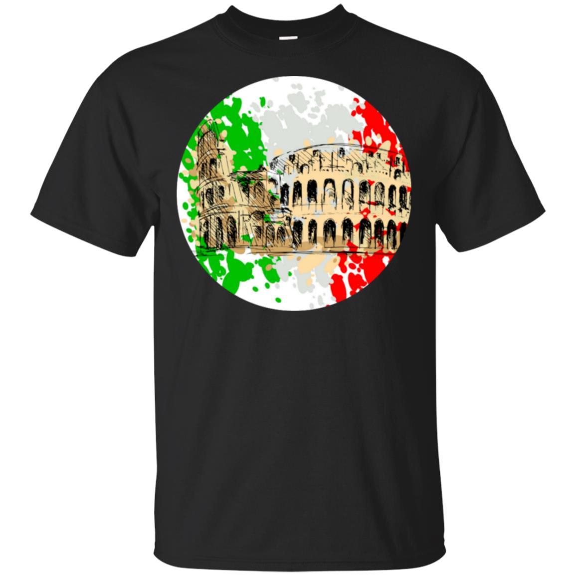 Roman Colosseum Roma italia Unisex Short Sleeve