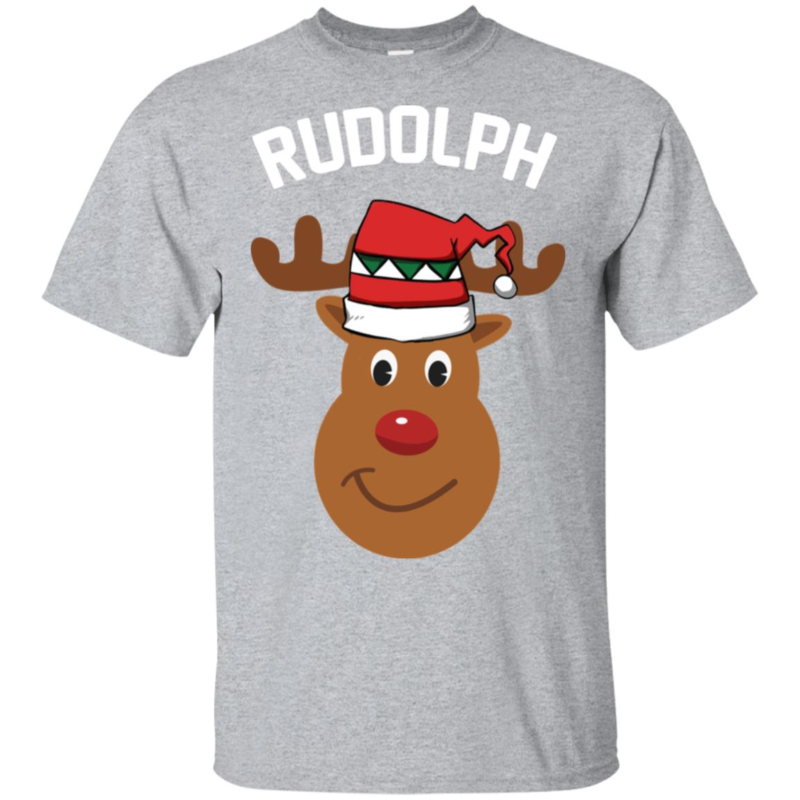 Santa Reindeer Rudolph Christmas Group Costume Sleeve Unisex Short Sleeve