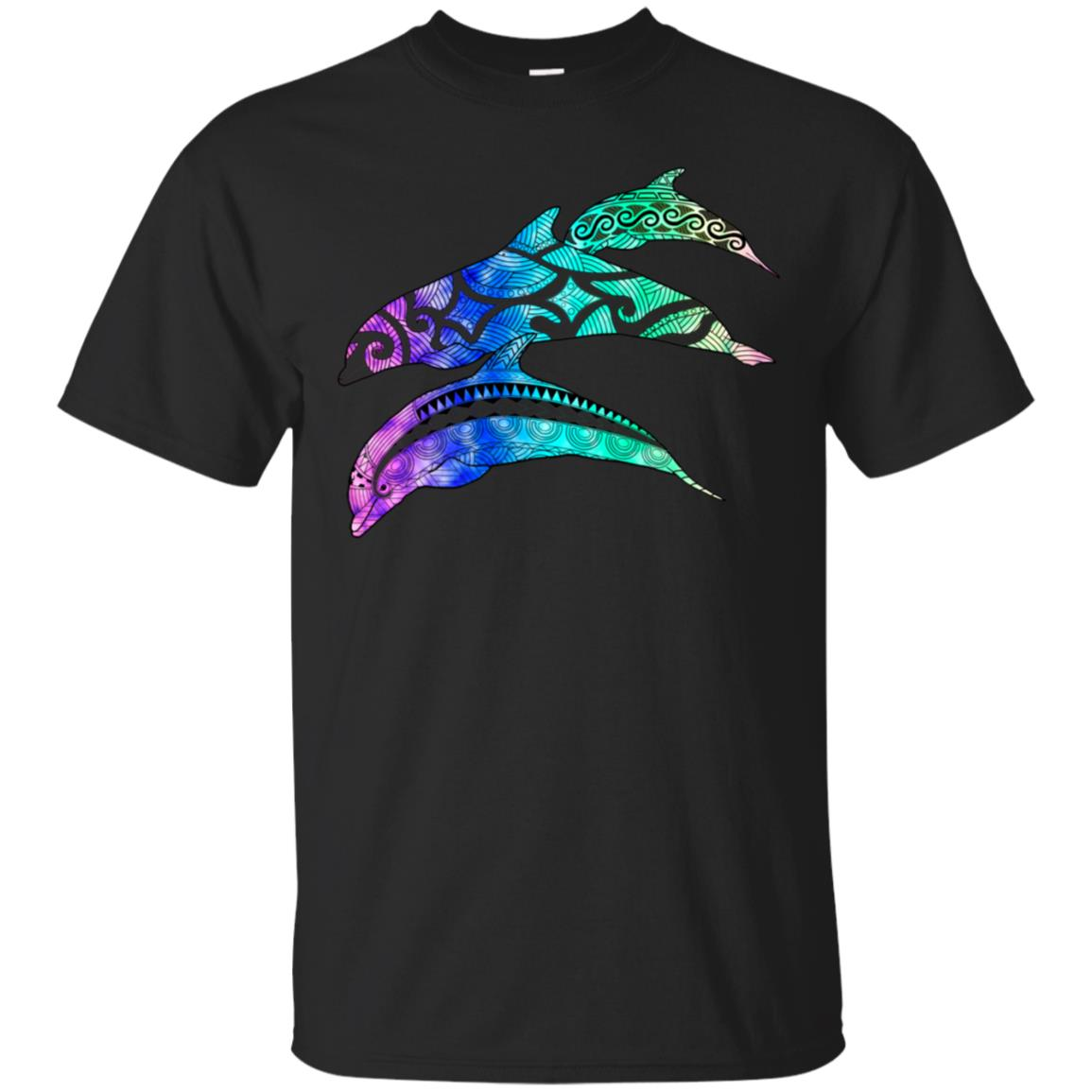 Tribal Dolphin Pod Ocean Art Unisex Short Sleeve