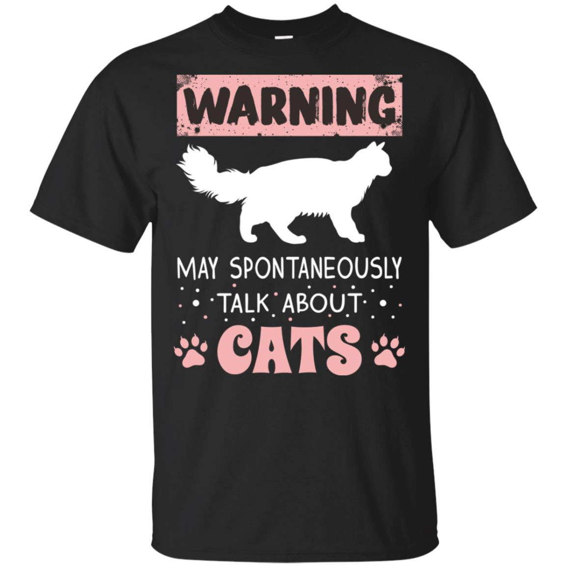 Warning May Spontaneously Talk About Cats Unisex Short Sleeve