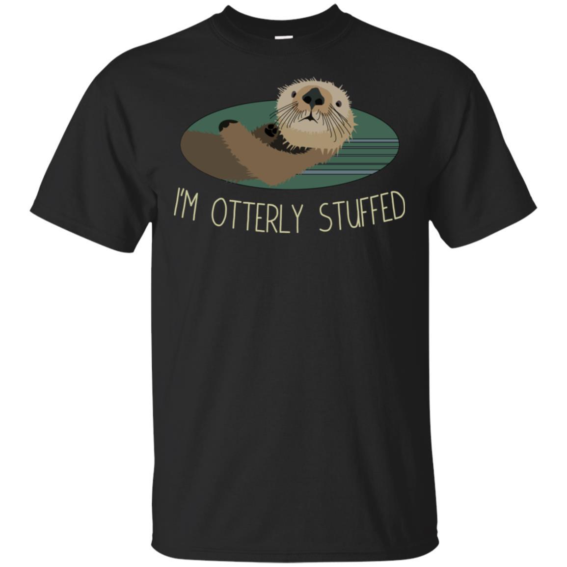 I'm Otterly Stuffed Funny Otter Unisex Short Sleeve