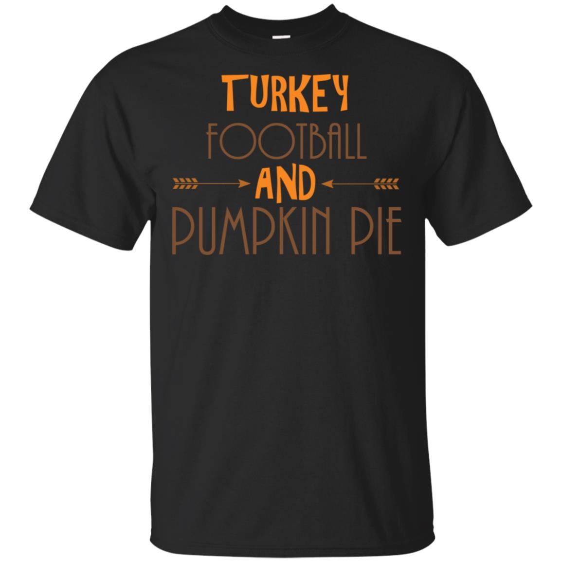 Thanksgiving Tee Turkey Football and Pumpkin Pie Unisex Short Sleeve