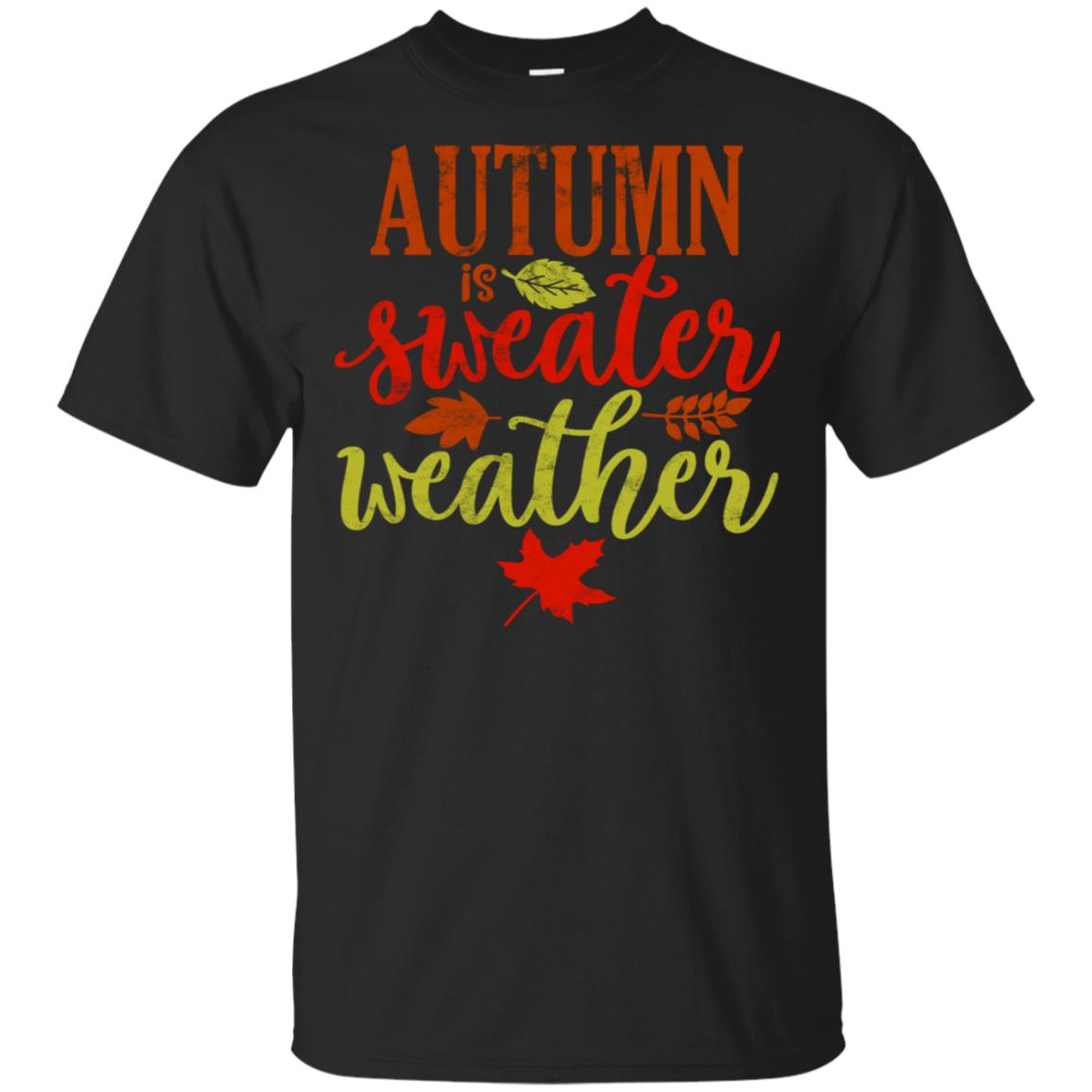 Autumn is Sweater Weather Fall Leaves Unisex Short Sleeve