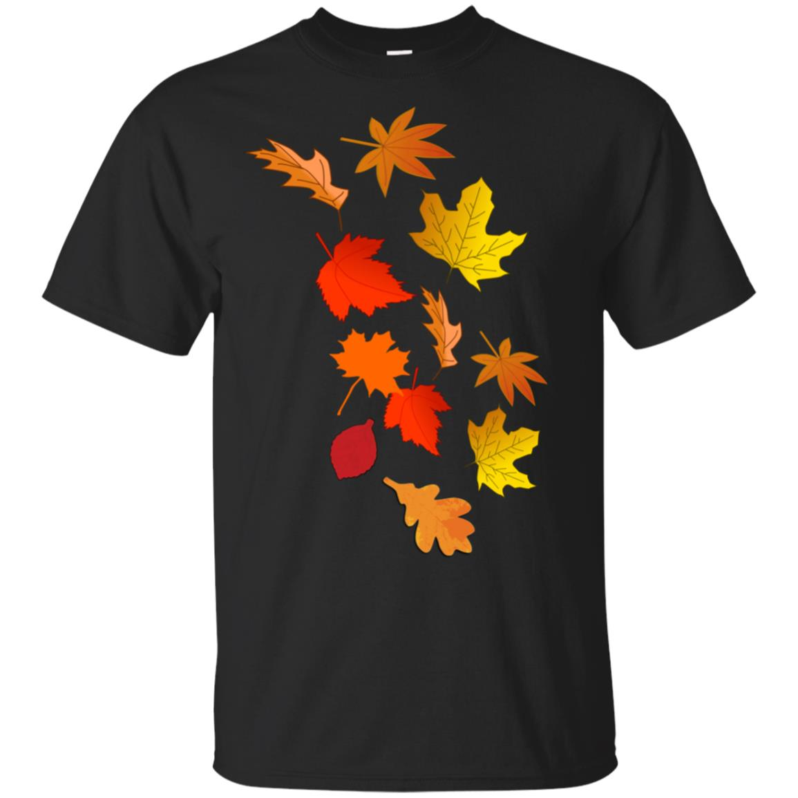 Autumn Foliage More Falling Leaves Unisex Short Sleeve