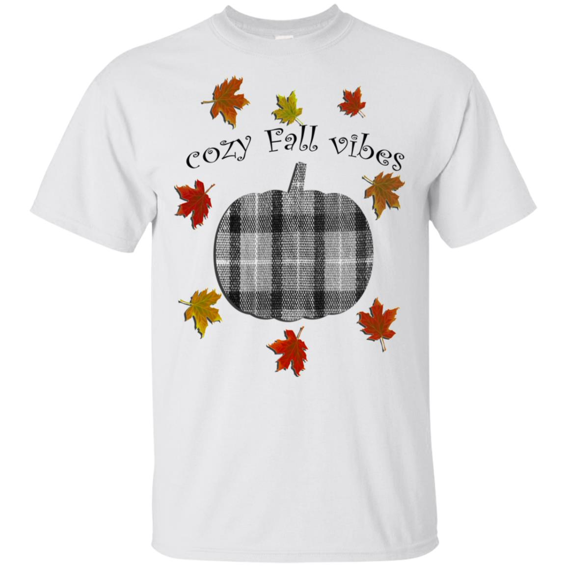 Autumn, Cozy Fall Vibes Pumpkin Flannel Graphic Gift Unisex Short Sleeve