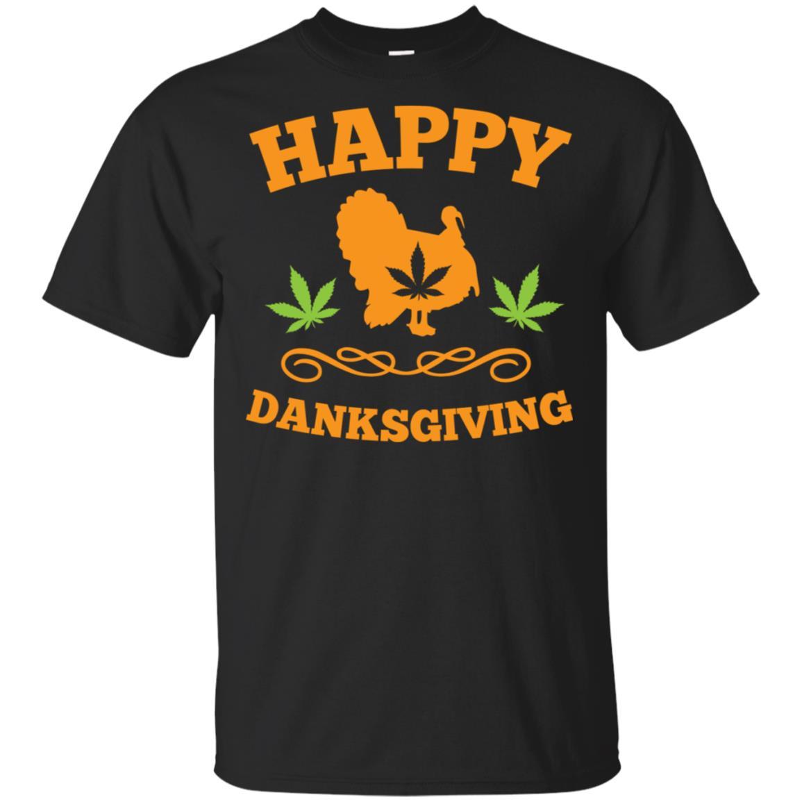 Happy Danksgiving Marijuana Weed Leaf Thanksgiving Unisex Short Sleeve