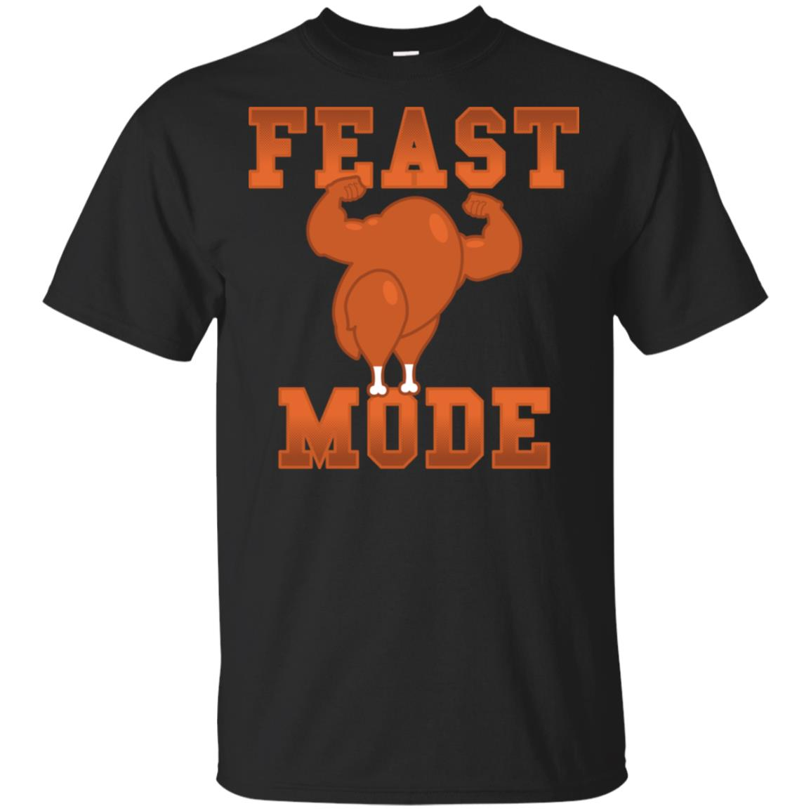 Feast Mode - Funny Thanksgiving Day Graphic Design Unisex Short Sleeve