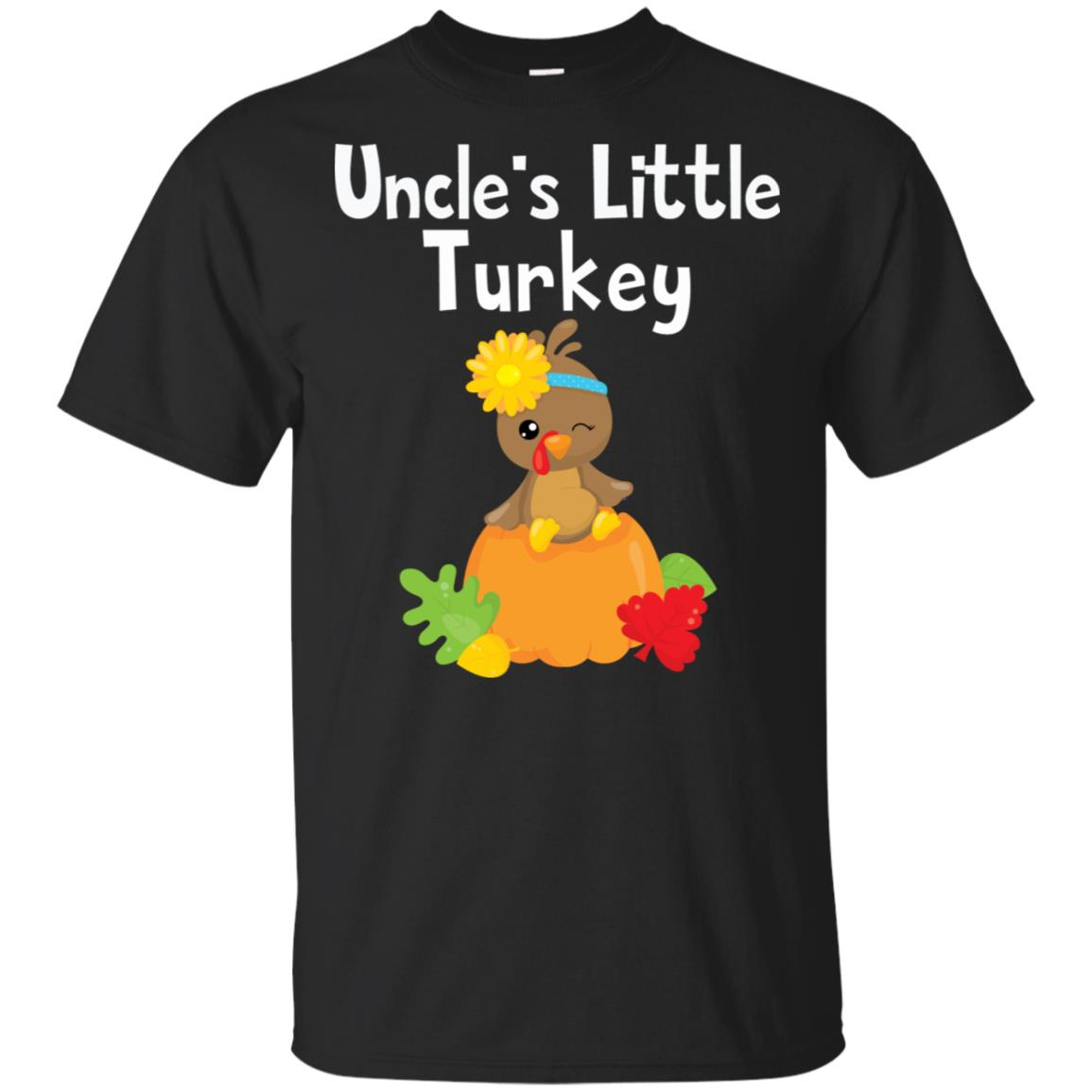 Thanksgiving Uncle's Little Turkey Cute Fall Tee Unisex Short Sleeve