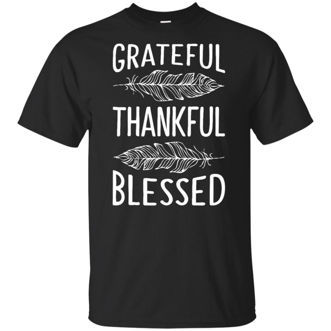 Thanksgivings for Women Grateful Thankful Blessed Tee Unisex Short Sleeve