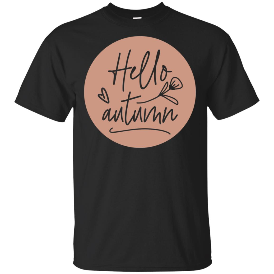 Hello Autumn Womens Fall Seasonal Holiday Cozy Unisex Short Sleeve