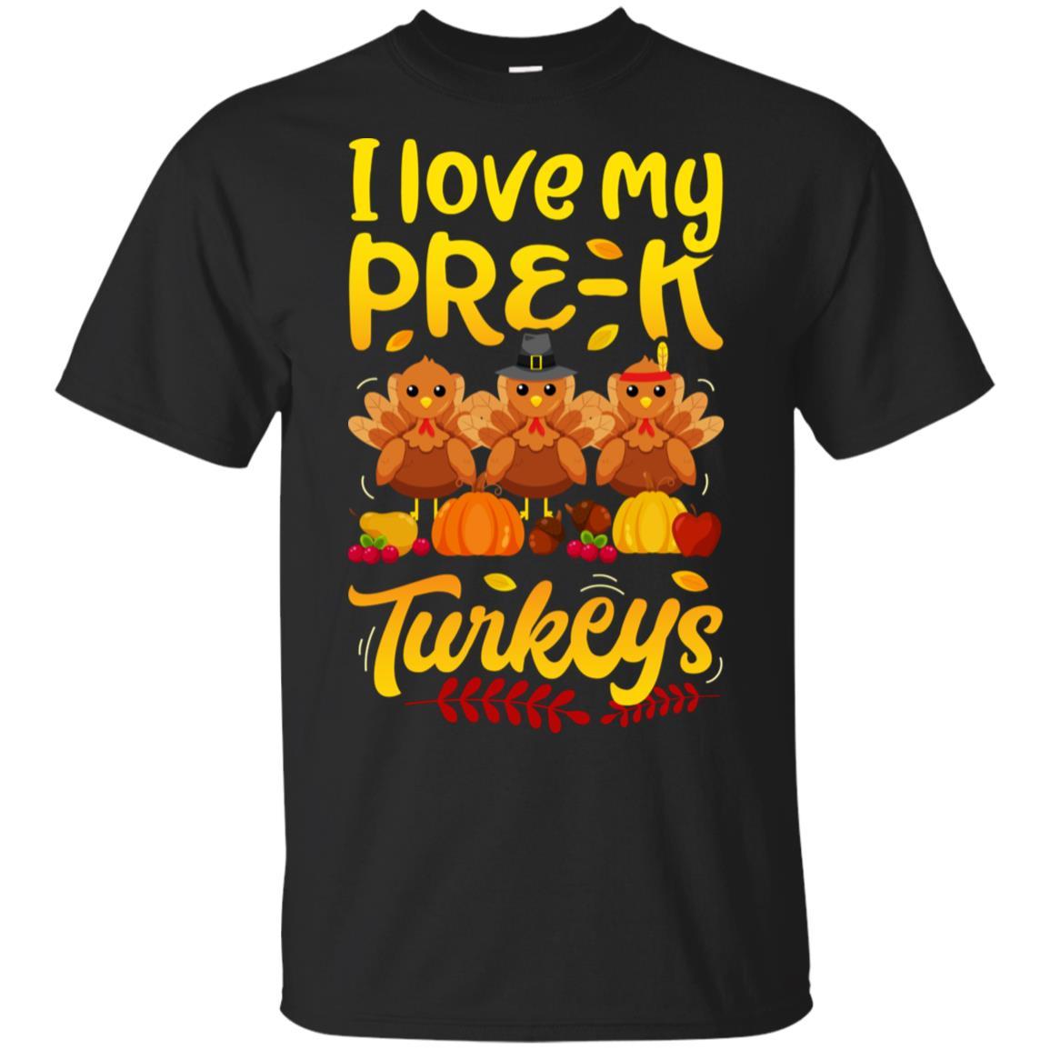 Thanksgivings for Women Men I Love My Pre-K Turkeys-1 Unisex Short Sleeve