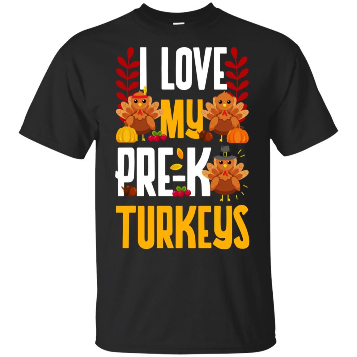 Thanksgivings for Women Men I Love My Pre-K Turkeys Unisex Short Sleeve