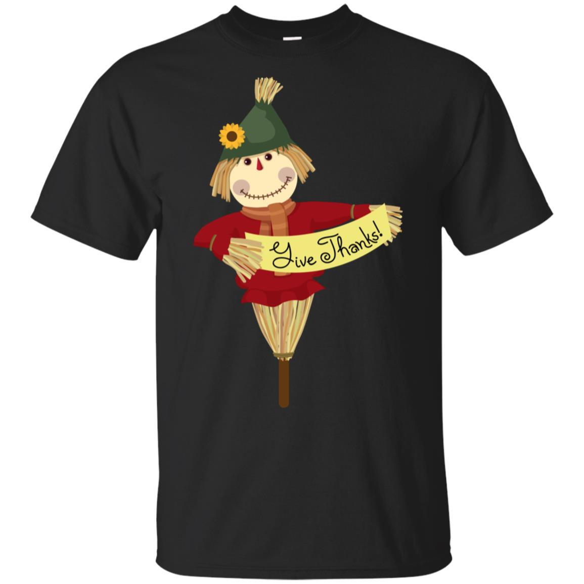 Give-Thanks Funny Thanksgiving Scarecrow Unisex Short Sleeve