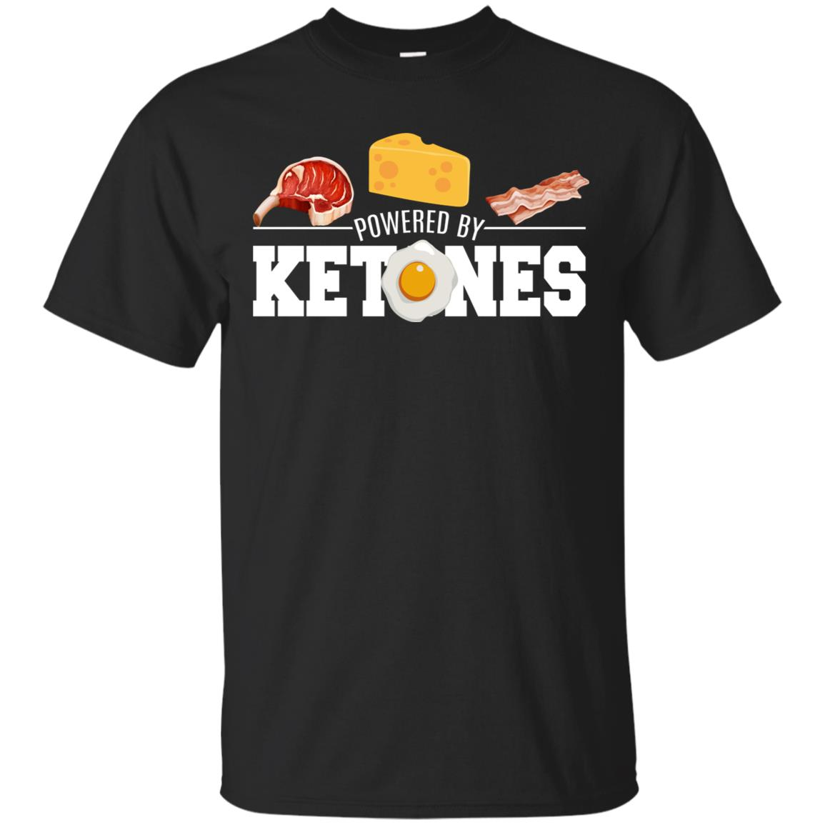 Powered By Ketones Keto Dieting Gifts Motivation Unisex Short Sleeve