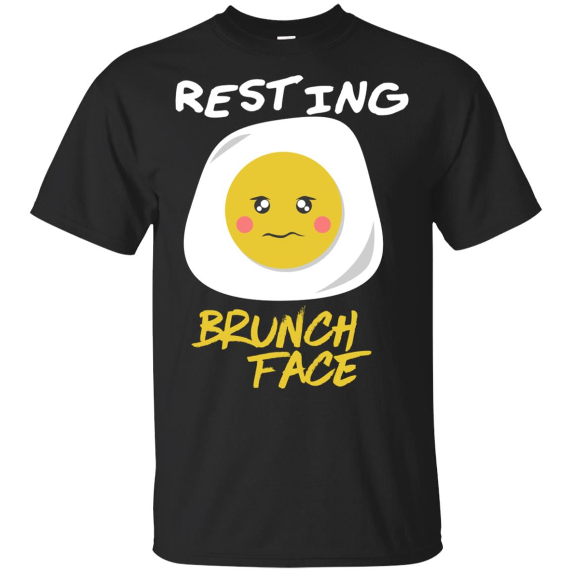 Resting Brunch Face Cute Egg Funny Breakfast Lunch Pun Tee Unisex Short Sleeve