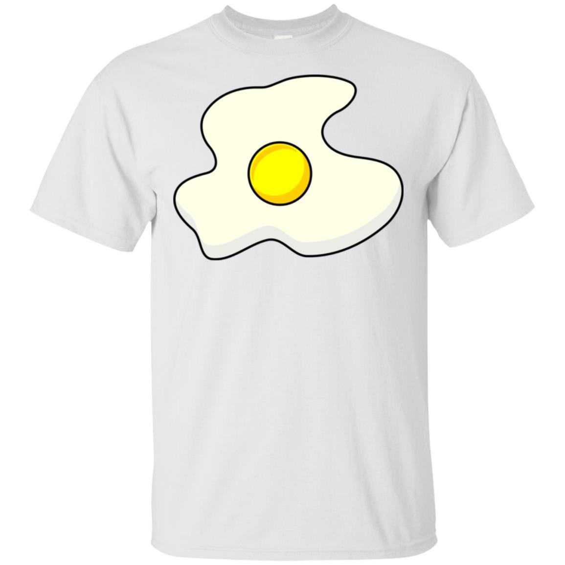 Fried Egg Sunny Side Up Breakfast Unisex Short Sleeve