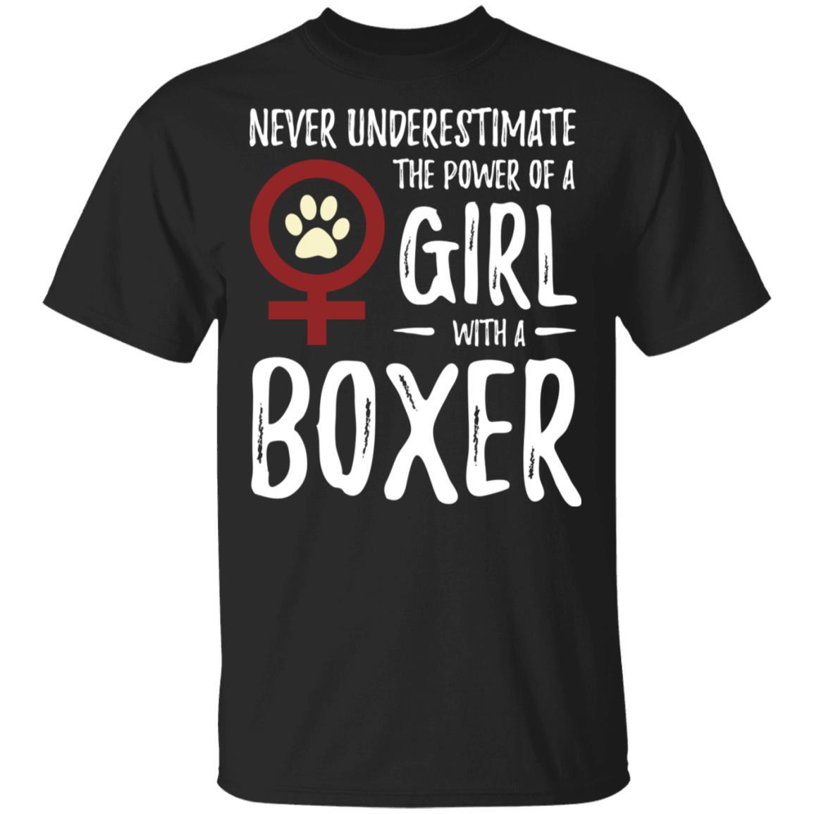 Power of Girl Boxer for Feminist Dog Mom Unisex Short Sleeve
