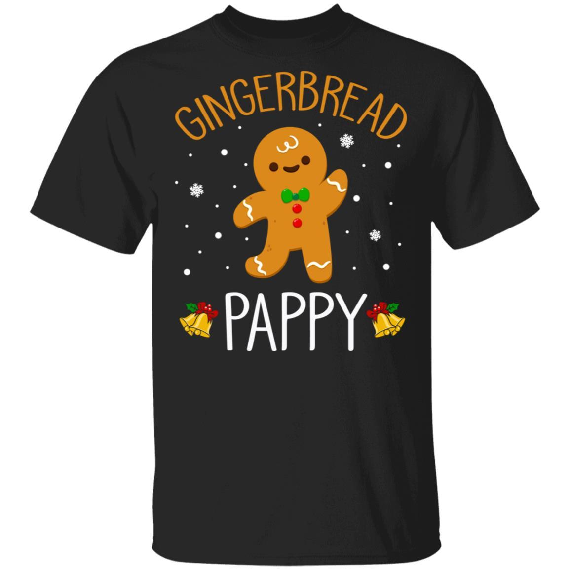 Xmas Cute Gingerbread Men Pappy Christmas Family Unisex Short Sleeve