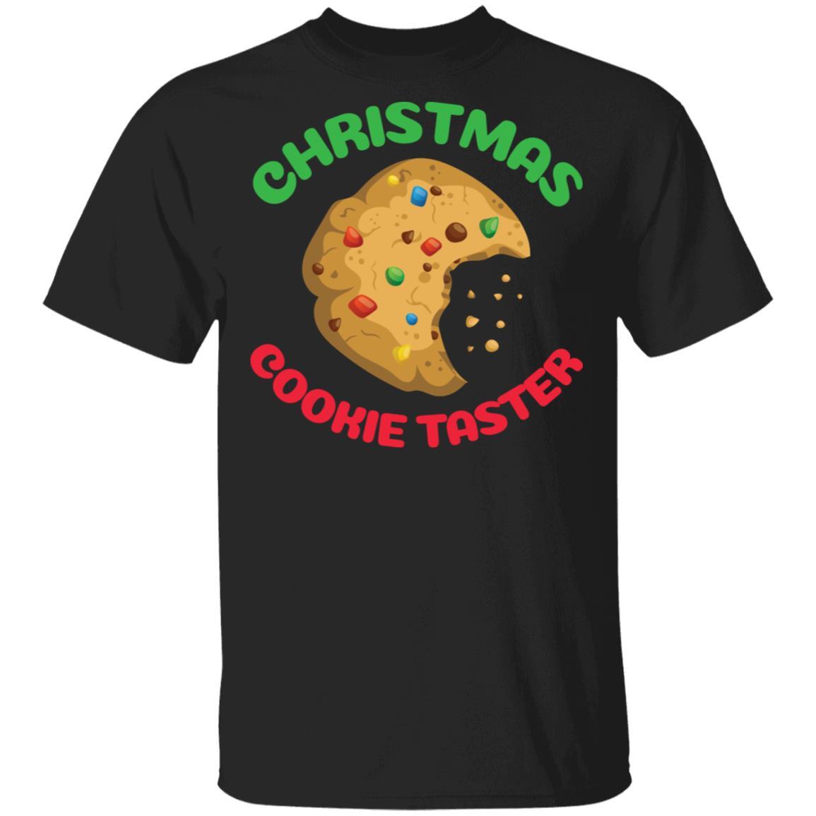 Christmas Cookie Taster Funny Xmas Text Unisex Short Sleeve