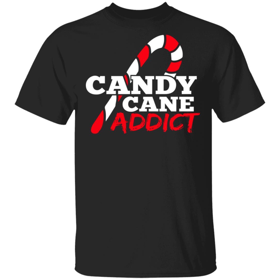 Candy Cane Addict Christmas Unisex Short Sleeve