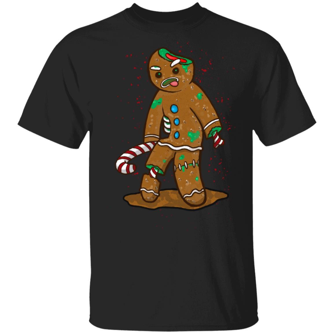 Zombie Gingerbread Man Funny Christmas Baking Unisex Short Sleeve