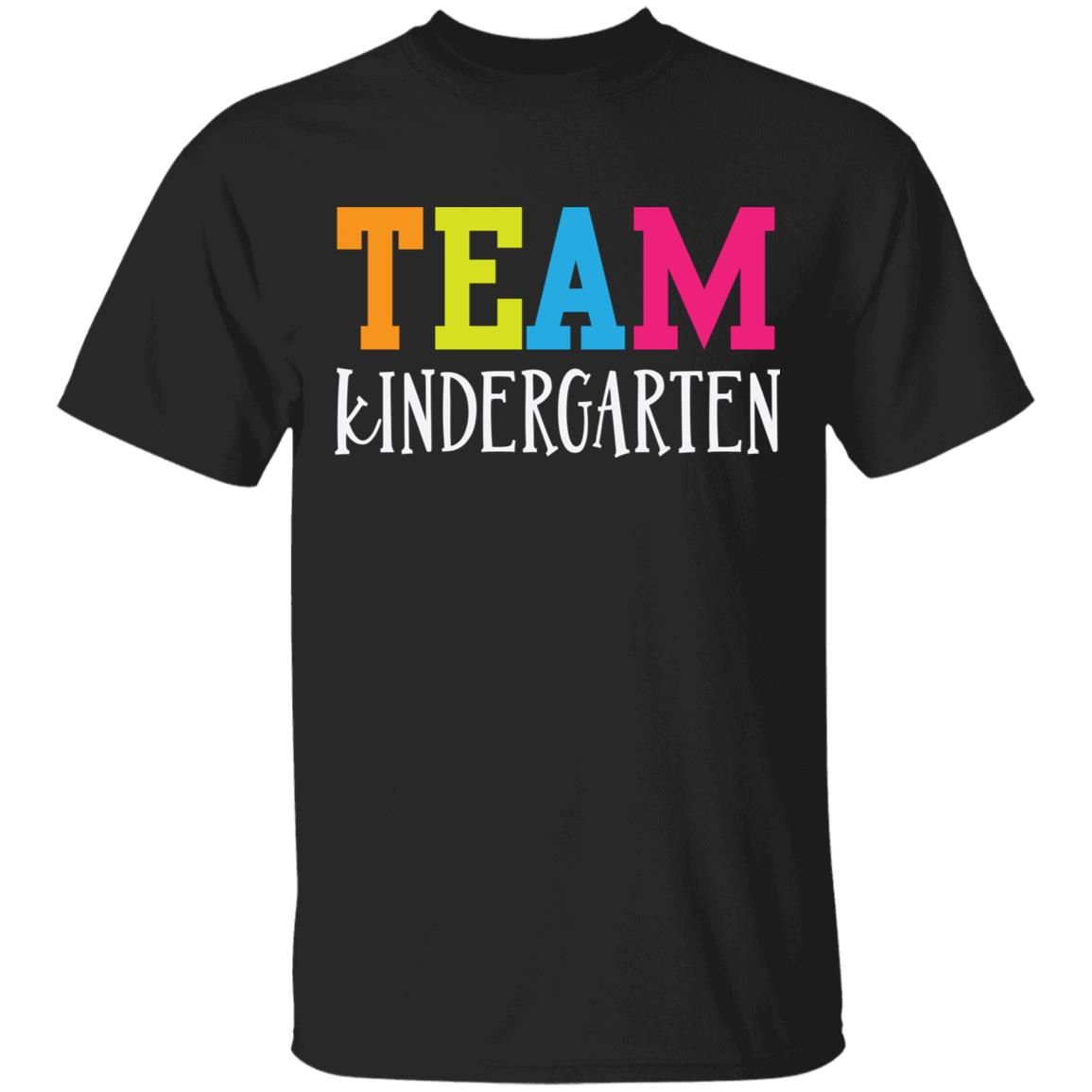 Team Kindergarten Cute Colorful Teacher Unisex Short Sleeve