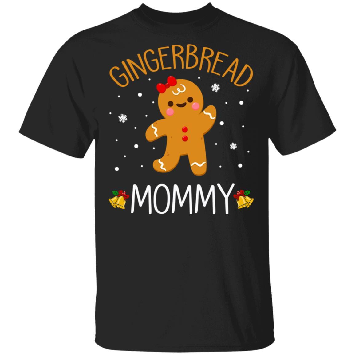 Xmas Cute Gingerbread Men Mommy Christmas Family Unisex Short Sleeve