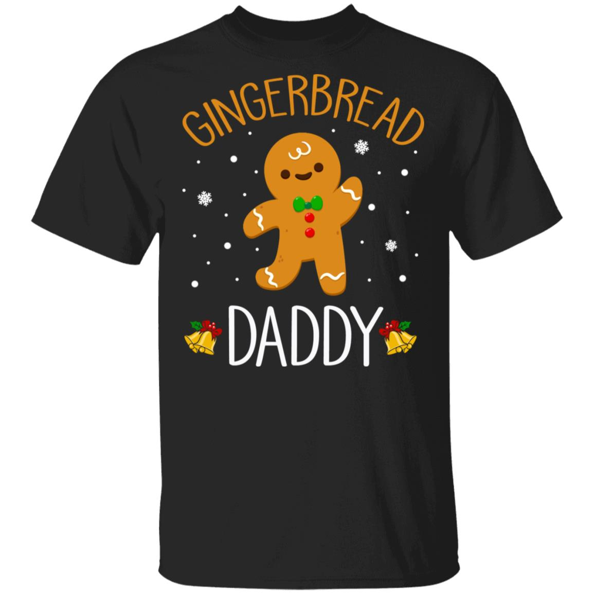 Xmas Cute Gingerbread Men Daddy Christmas Family Unisex Short Sleeve