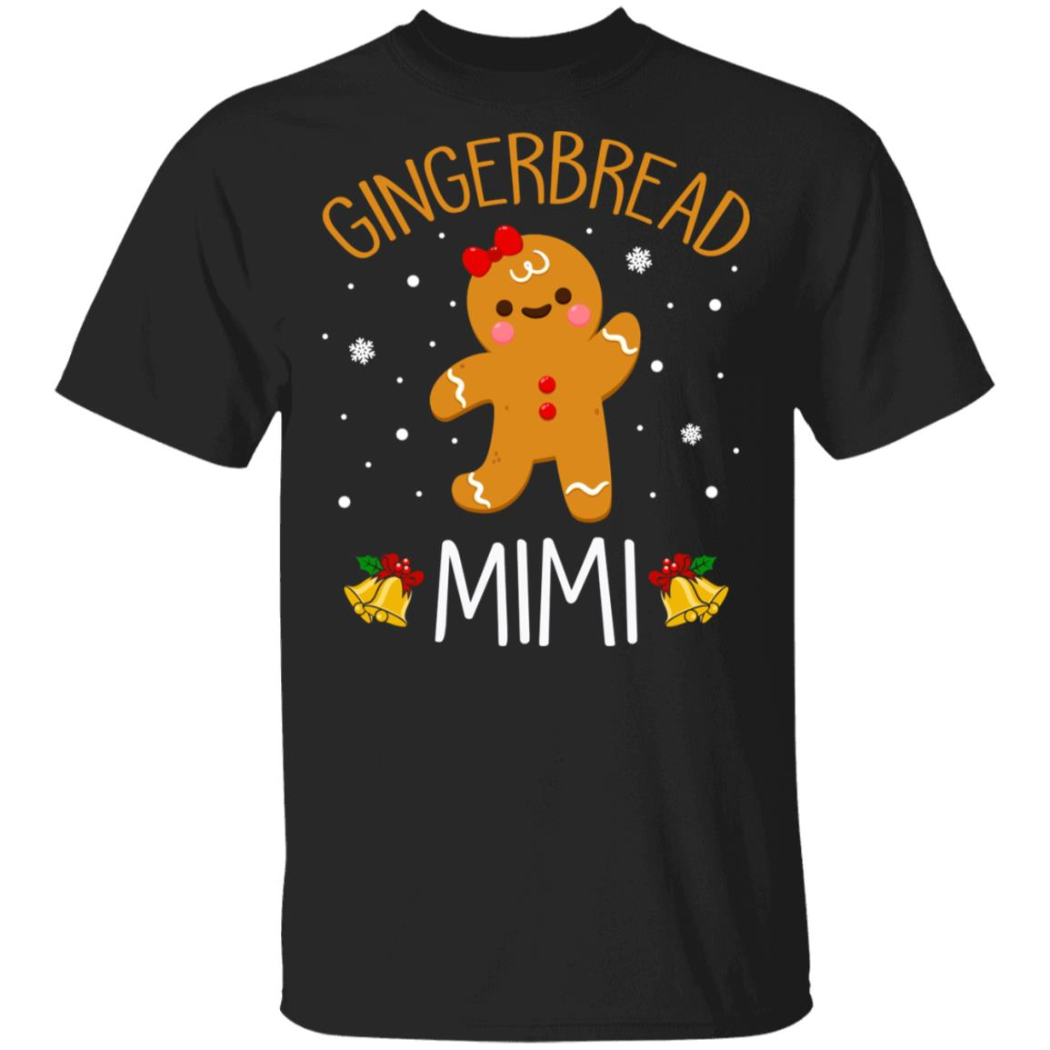 Xmas Cute Gingerbread Men Mimi Christmas Family Unisex Short Sleeve
