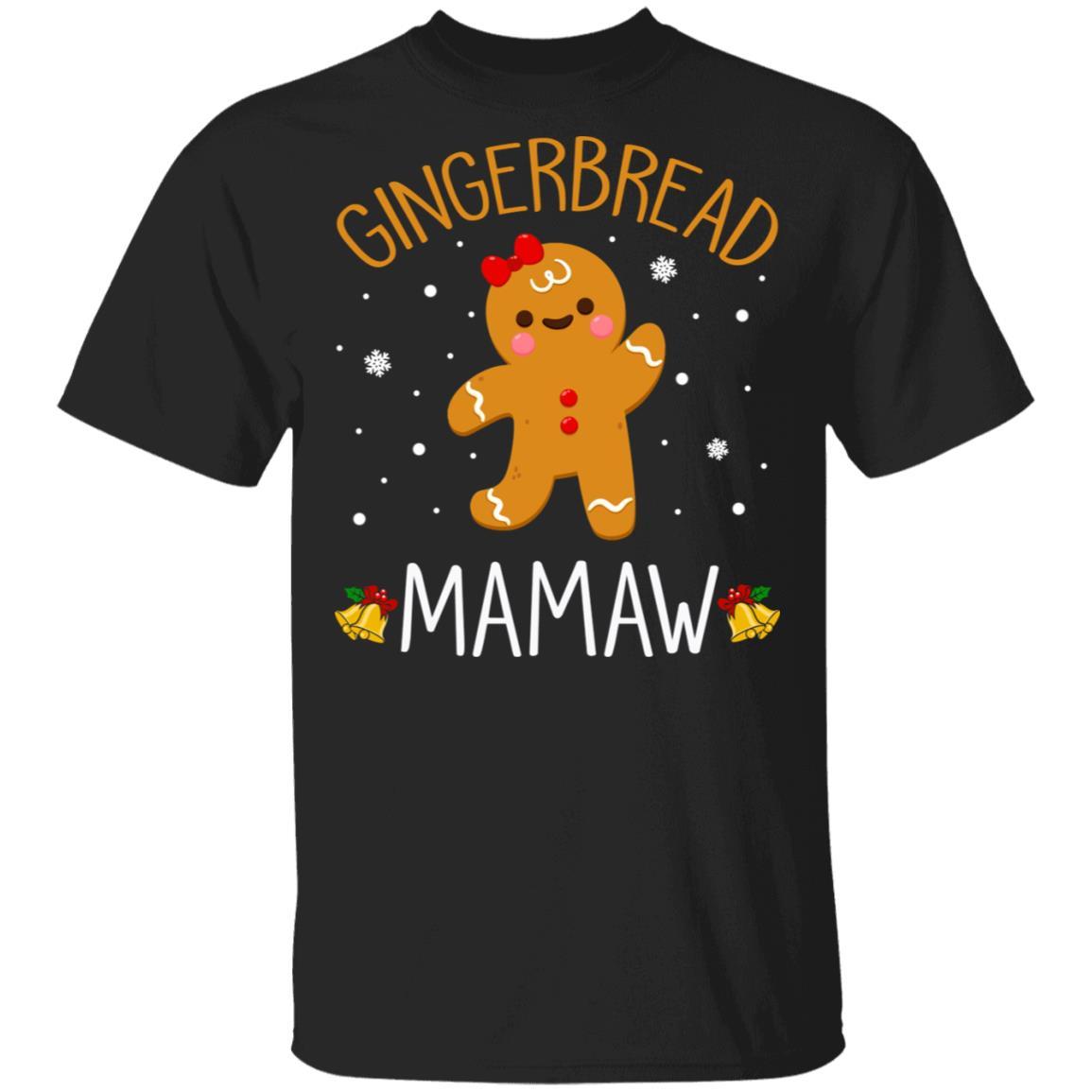 Xmas Cute Gingerbread Men Mamaw Christmas Family Unisex Short Sleeve