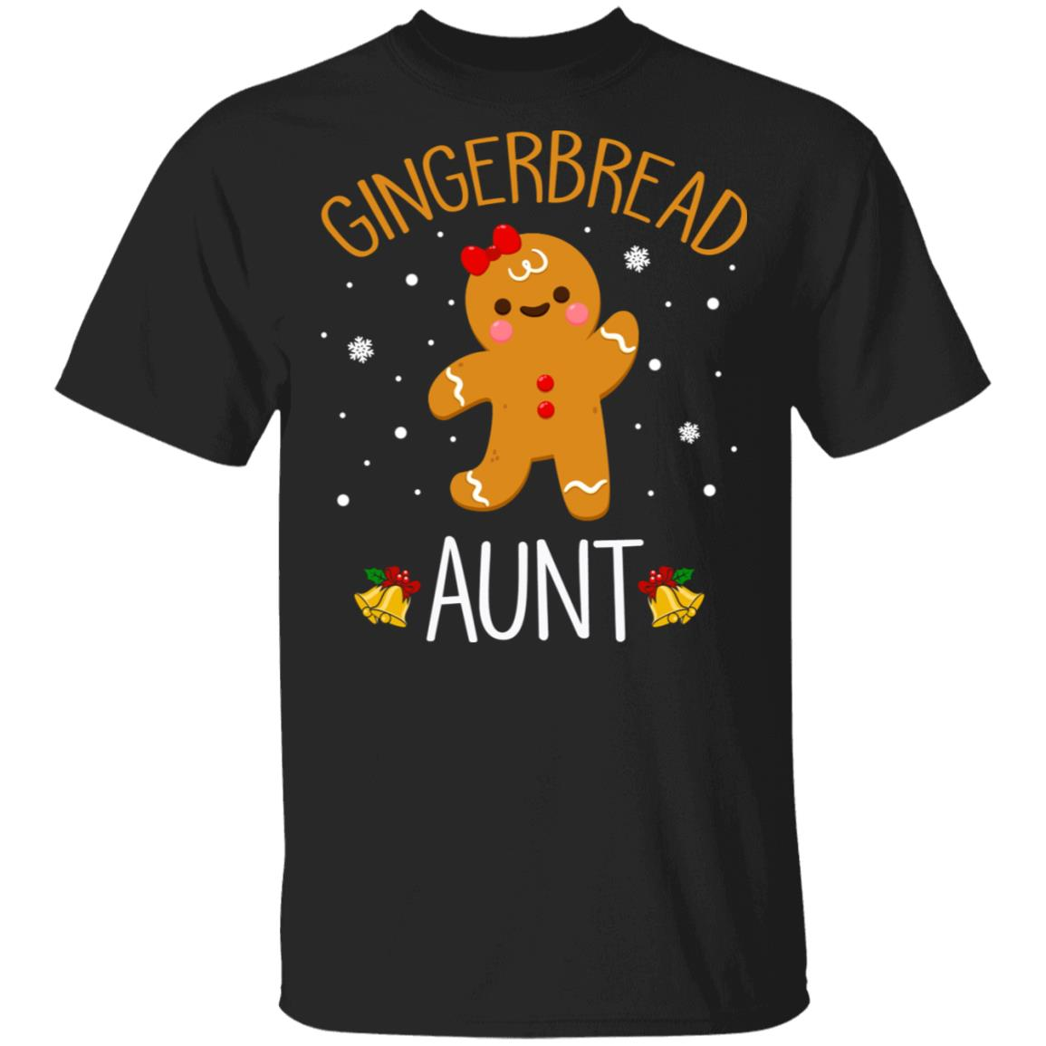 Xmas Cute Gingerbread Men Aunt Christmas Family Unisex Short Sleeve