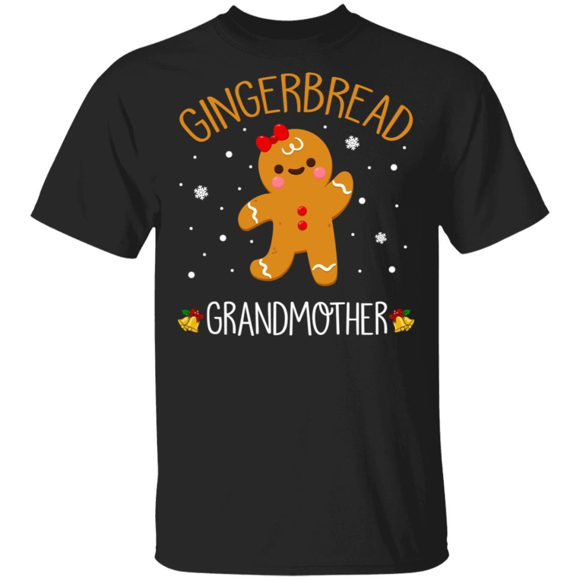 Gingerbread Men Grandmother Christmas Family Unisex Short Sleeve